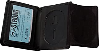 Law Enforcement Leather Hidden Badge Folding Wallet (Many Styles)