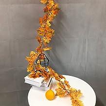 175 cm grote kunstplanten wijnstok nep esdoorn bladeren muur opknoping zijde boom gebladerte rotan klimop voor kerst bruil...