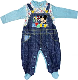 d49947a829 tutina neonato con piedino in cotone jersey MICKEY topolino disney art.  WD101281