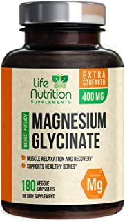 Sponsored Ad - Magnesium Glycinate High Absorption Chelated 400mg, Made in USA, Vegan Sleep and Stress Support for Leg Cra...