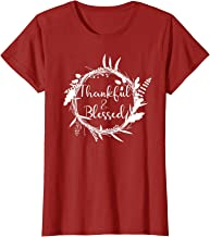Thankful Blessed Sign Shirt Cute Gift for Mother Grandma Mom