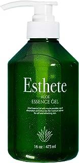 Esthete Aloe Vera Gel for Face, Sunburn Relief, Acne Treatment, Hair Mask - Professional Grade K Beauty Face Moisturizer K...