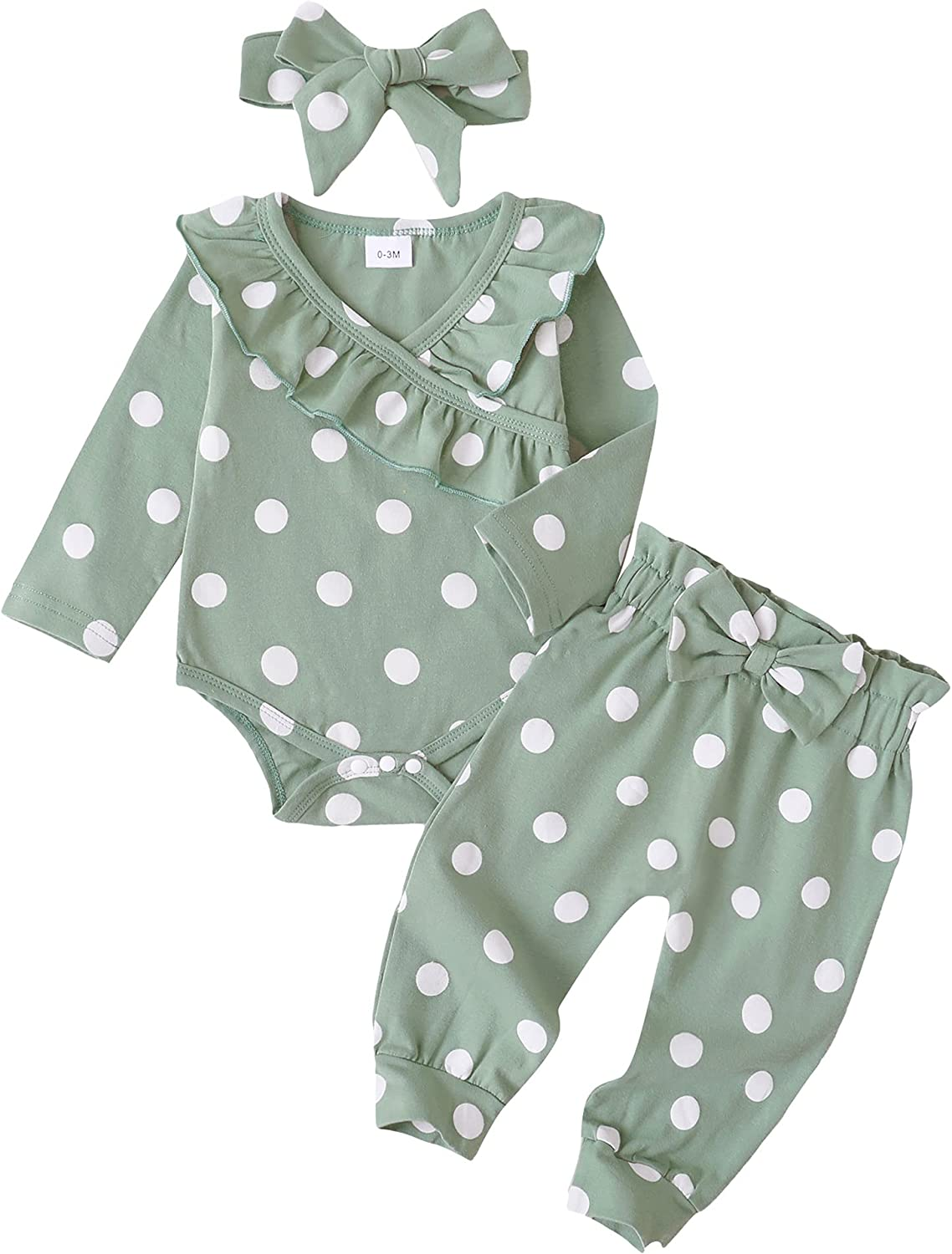 SUNNY PIGGY Newborn Baby Girl Clothes Long Sleeve Romper Infant Girls' Clothing Cotton Pants Set Outfits