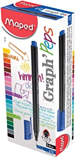 Maped Graph'Peps Fineliner Pen - Marina Blue (Pack of 12)
