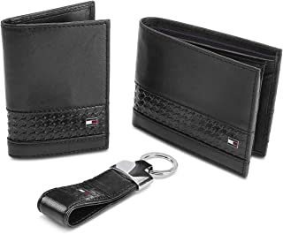 Tommy Hilfiger Black Men's Wallet, Card Case and Key Fold Combo (TH/LENIN/WALL/CC/KF/01)