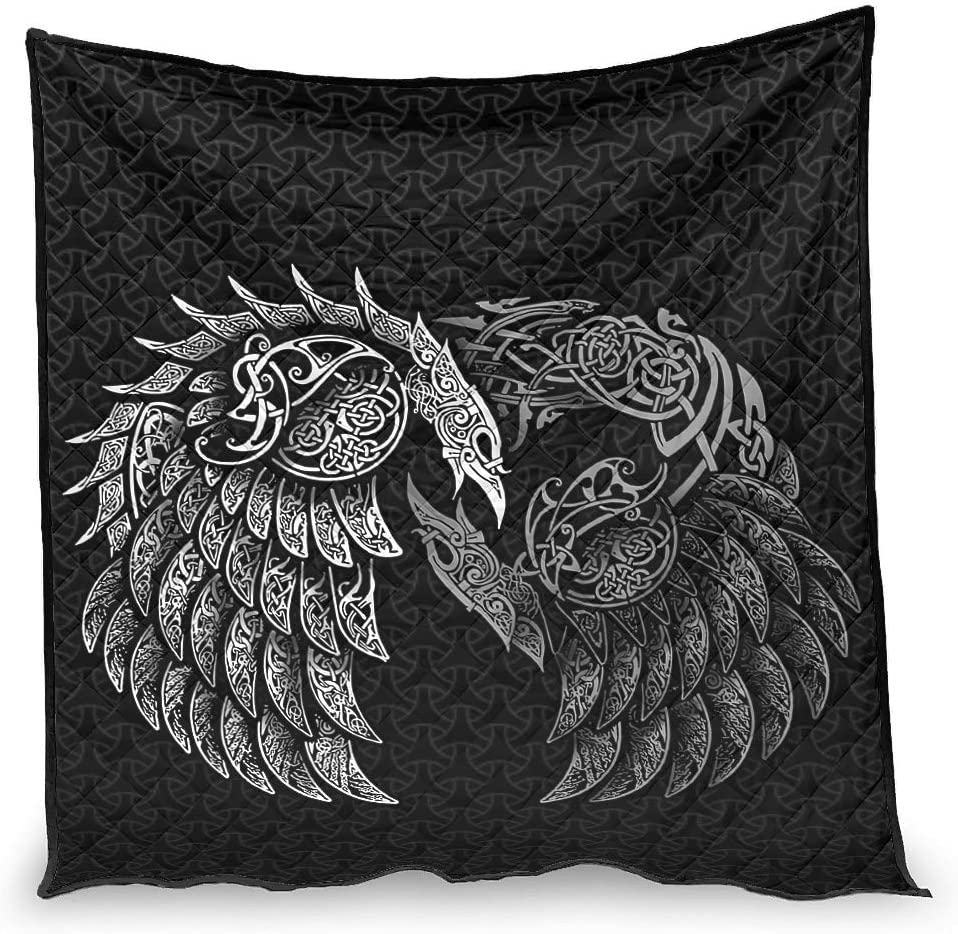 OFFicial Vartanno Fashion Viking Ravens Quilt Super Couch Genuine Whit - Soft for