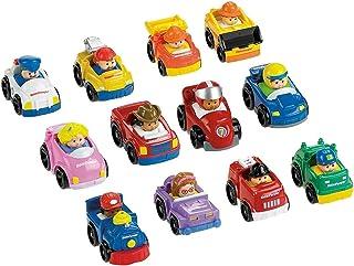 Little People Wheelies Vehículos - Paquete de 6