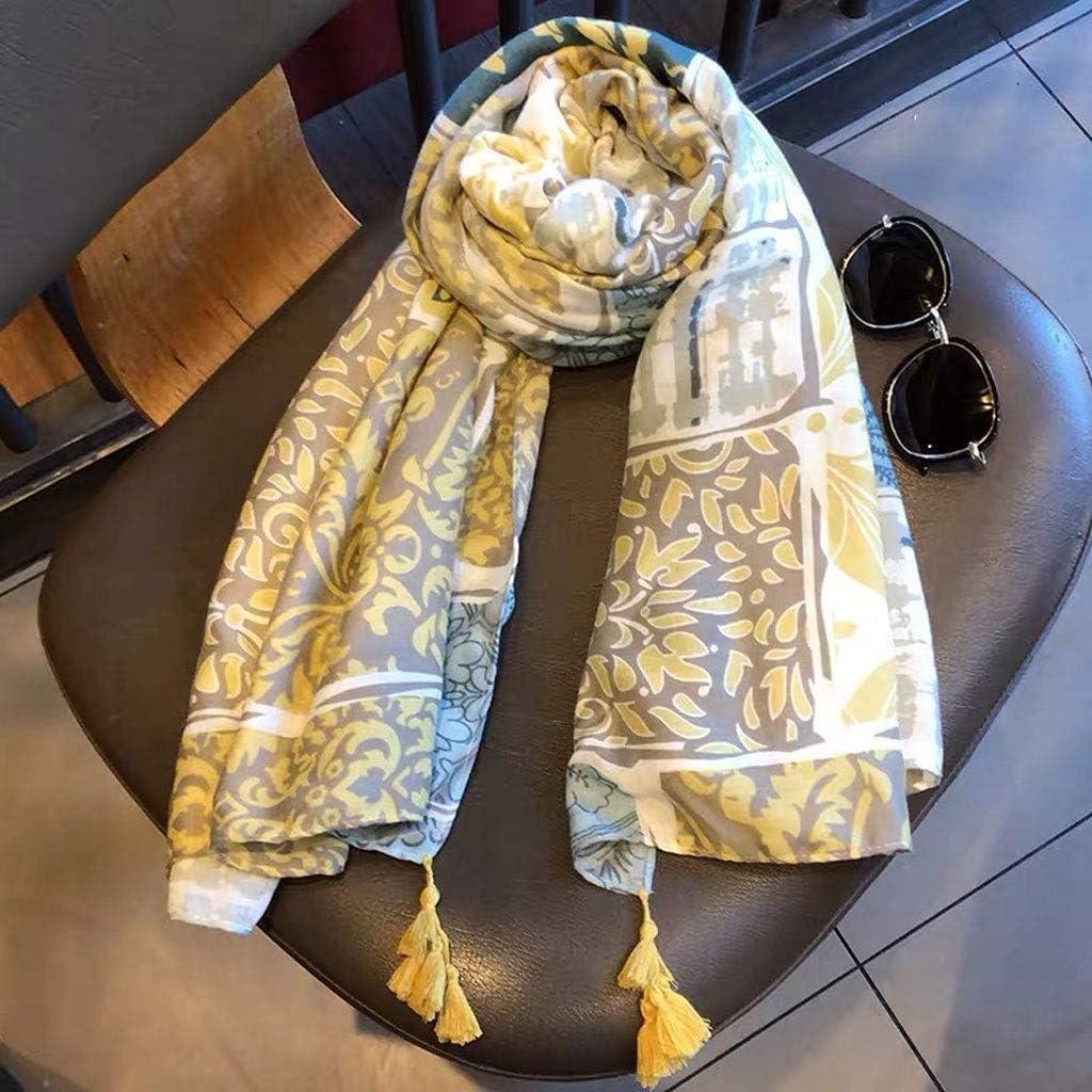 Bargain Super Special SALE held sale PDGJG Ladies Fashion Bohemian Floral Tassel Scarf Viscose Shawl