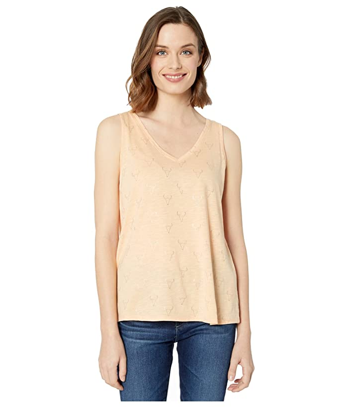 Ariat  Steer Tribe Tank Top (Apricot Rays) Womens Clothing