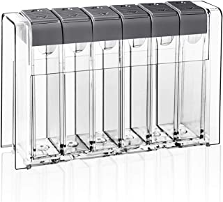 Spice Shaker Jars Seasoning Box-Plastic Spice Dispenser-Seasoning Condiment Storage Container with Tray for Salt Sugar - B...