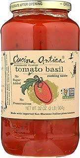 Cucina Antica Tomato Basil Cooking Sauce - Case of 12 - 32 FL oz.