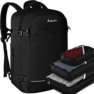 Asenlin Travel Backpack 40L Flight Approved Carrying Backpack Weekend Backpack Large Backpack Backpack with 3 Cubes