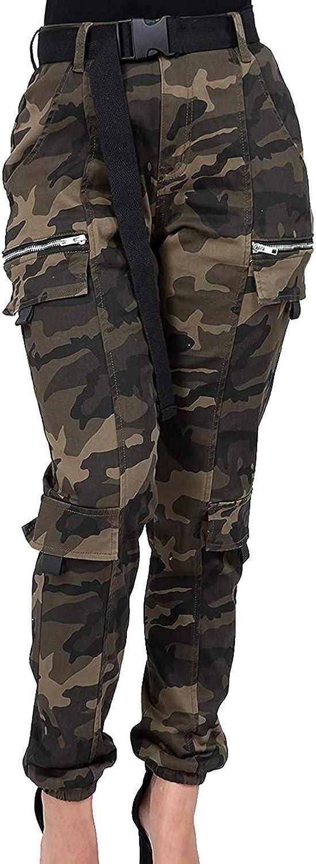 Mujer Pantalones Estampados De Camuflaje Para Mujer Pantalones De Moda De Ocio Delgados Pantalon Nieve Mujer Pantalones Militares Mujer De Cintura Alta Lonshell Ropa Ak Oz Com