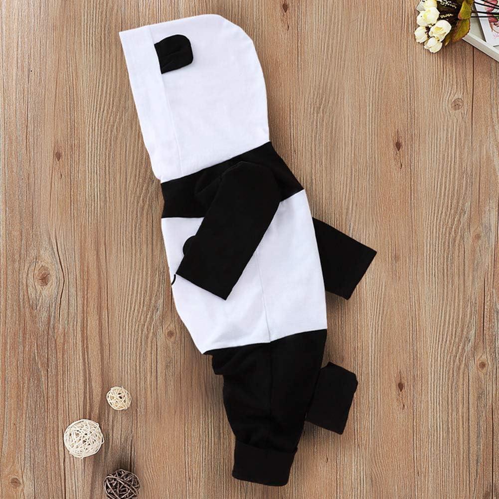TAOHONG Unisex Baby Panda Hooded Romper Winter Animal Costume Cute Jumpsuit Outfit