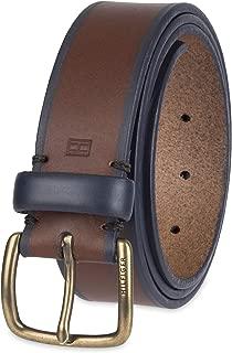 Men's Casual Belt, brown/black, Xlarge (44-46)