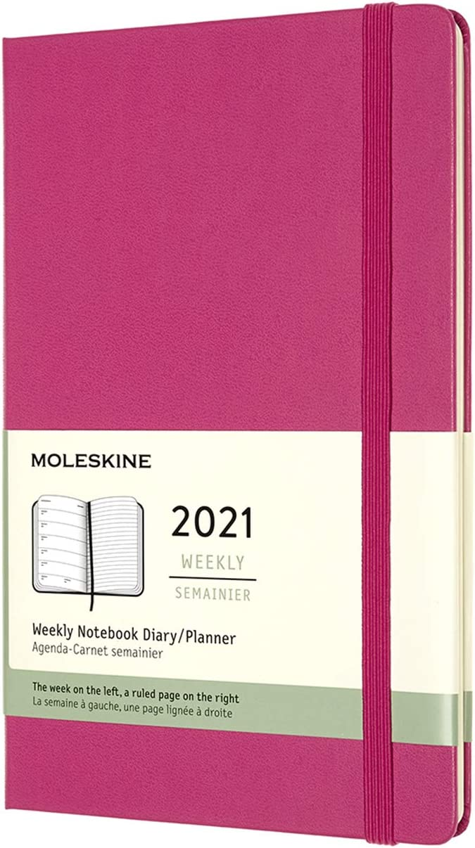 Disney 2021 Planner Diary book L Monthly Mickey mark pink S2951428