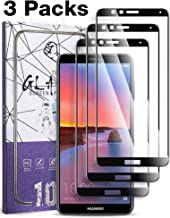 [3 Pack] Fnova for Huawei Mate SE Screen Protector Tempered Glass, Full Screen Coverage, 9H Anti Scratch, 2.5D Arc Edge, Bubble Free, Lifetime Replacement Warranty