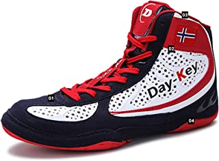 Boxing Shoes Men Breathable Upper, Rubber Soles, Laces That Are Not Easy To