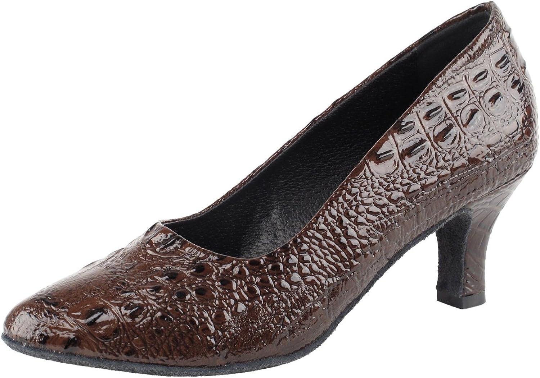 gold Pigeon shoes Party Party SERA5513 Comfort Evening Dress Pumps, Wedding shoes  Women Ballroom Dance shoes Medium Heel