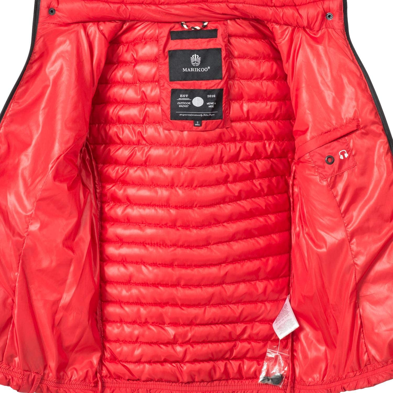 Marikoo Damen Übergangs-Jacke Steppjacke Samtpfote XS-XXL Rot
