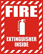 6x4 Inches FIRE EXTINGUISHER INSIDE QTY 25