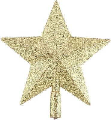 Toyland Topper Arbre de No/ël Glitter Star 20cm Or