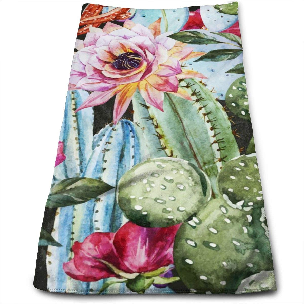 Bright Purchase Outlet sale feature Colorful Flowers Roses Cactus Towels G Hand Bathroom Soft