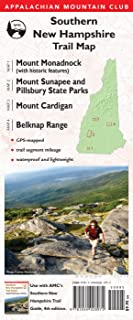 AMC Southern New Hampshire Trail Maps 1–4: Mount Monadnock (with historic features), Sunapee and Pillsbury State Parks, Mount Cardigan, and Belknap Range (Appalachian Mountain Club)