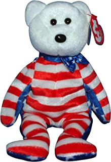 Ty Beanie Babies - Liberty the White Teddy Bear (USA Exclusive)