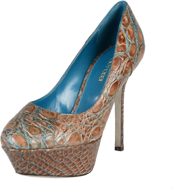 SERGIO ROSSI Croc Croc Croc Hud hög klack Plattformar Pumpar skor  kommer att göra dig nöjd