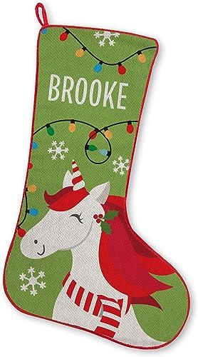 Let's Make Memories FA La La Friends Stocking, Christmas, Fireplace, Seasonal Décor - Unicorn