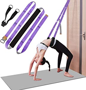 Yoga Strap for Stretching, Leg Stretcher Pilates Equipment for Home Gym, Back Bend Assist Trainer Waist Flexibility Workout Bands for Physical Therapy Ballet Dance Splits Gymnastics