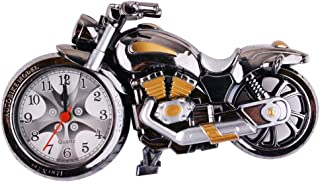 AKDSteel Motorcycle Alarm Clock of Luxury Retro Style, Creative Artistic Motorbike Desk Clock Model for Household Shelf Decorations, Unique Eye-Catching Exquisite Motorbike with Plastic an Decoration