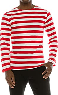 Armycrew Made in USA Men's Red White Stripe Shirt