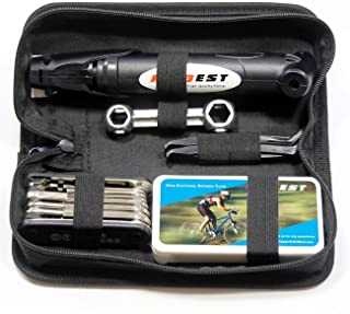 Mini Bike Pump & Tire Puncture Repair Kit &...