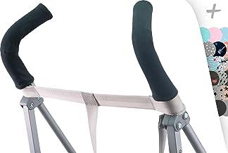 JANABEBE Funda protectora universal para manillar, mango de silla de paseo, cochecito (BLACK SERIES)