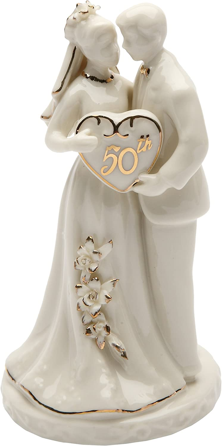 Cosmos Gifts 50th Finally resale start Anniversary Cake Seasonal Wrap Introduction Topper