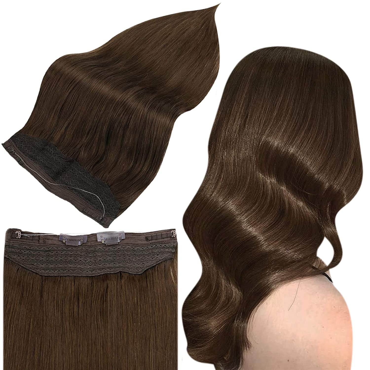 Full Shine Wire Hair Extensions Gifts Remy Human Medium Inch B Regular discount 10