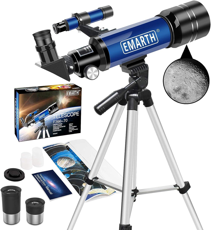 Emarth F360-70mm Telescope $45.49 Coupon