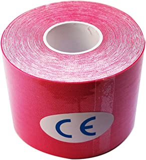 Athletic Elastic Kinesiology Tape 2-inch x 16.4 ft Roll Cotton Elastic Adhesive Muscle Sports Tape Bandage Physio Strain Injury Support