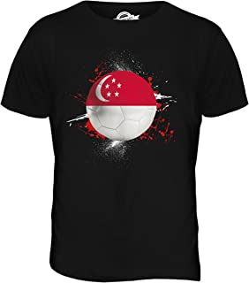 Men's Singapore Football Splatter T Shirt T-Shirt Top