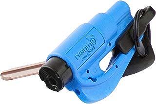 RESQME New Kit Seatbelt Cutter Emergency Survival Window Glass Breaker Keychain Tool Blue
