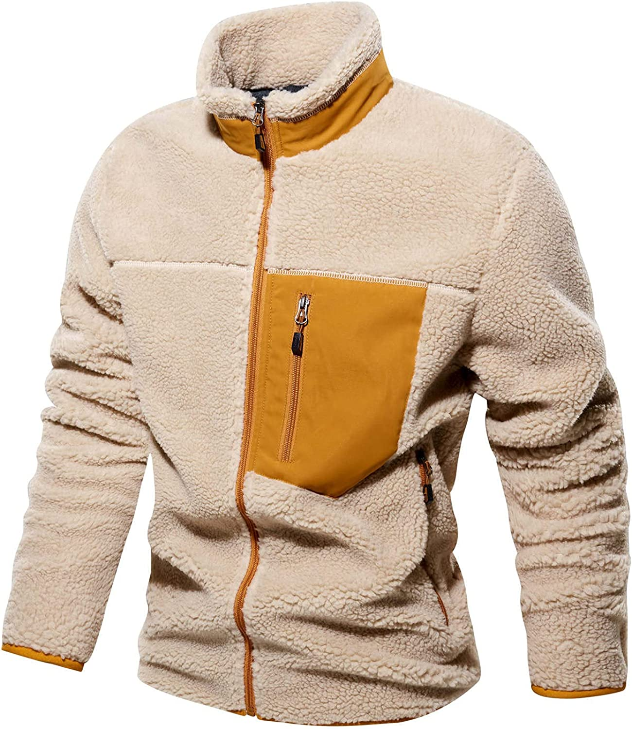 FIN86 Men's Casual Fashion Stitching AutumnWinter Jacket Our Sale item shop most popular
