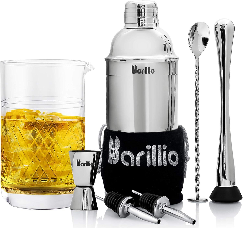 Elite Cocktail Shaker Set Bombing new work Bartender Kit 20 Popular standard Crysta With Oz Bundle