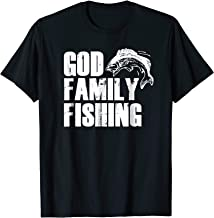 GOD FAMILY FISHING T-Shirt Christian Dad Father Day Gift Tee