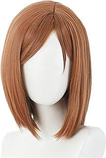 YYCHER Kugisaki Nobara Cosplay Wig Anime Jujutsu Kaisen Brown Short Wigs with Bangs Cosplay Accessories for Women Girls wi...