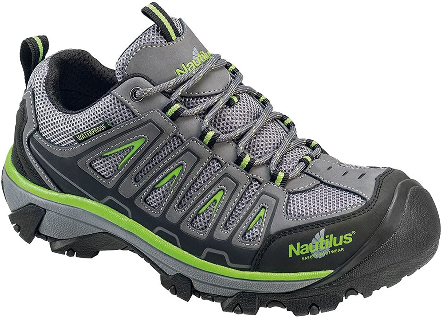 Nautilus 2208 Light Weight Low Waterproof Safety Toe EH Hiking shoes Grey
