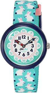 Flik Flak Kids Garden Adventure Swiss Quartz Watch with Polyester Strap, Green, 14 (Model: ZFBNP151)
