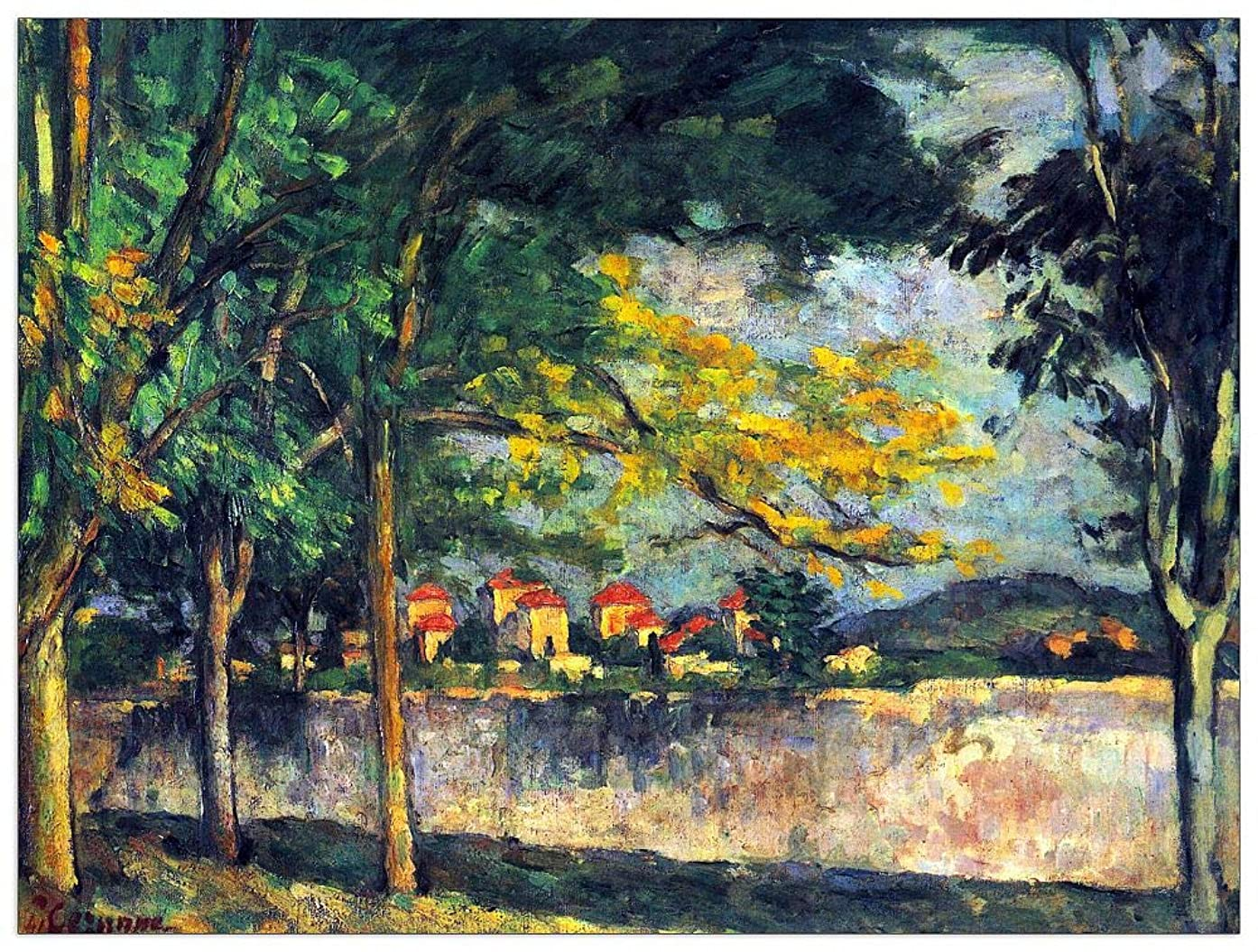 ArtPlaza TW92122 Cezanne Paul - Into Street Decorative Panel 35.5x27.5 Inch Multicolored