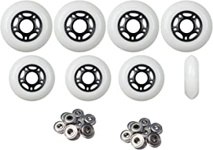 Player's Choice Outdoor Inline Skate Wheels 76mm/80mm Wht Hilo Roller Blade Hockey ABEC 9 Bearings
